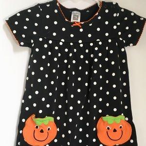 Carter's Polka Dot Pumpkin Halloween Dress, 12 Mo